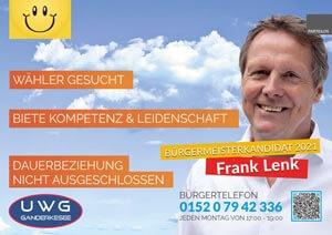 UWG Ganderkesee: Frank Lenk Bürgertelefon
