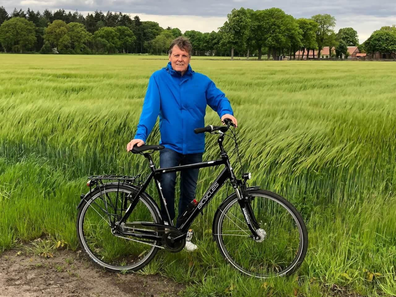 """Auch unser Bürgermeister Kandidat Frank Lenk war beim """"UWG-Stadtradeln"""" in der Gemeinde unterwegs."""