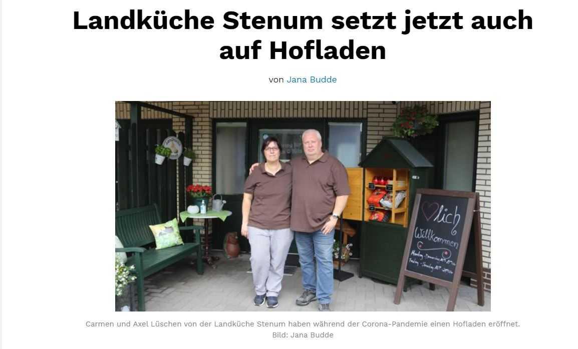 UWG Fraktion zu Besuch bei der Landküche Stenum