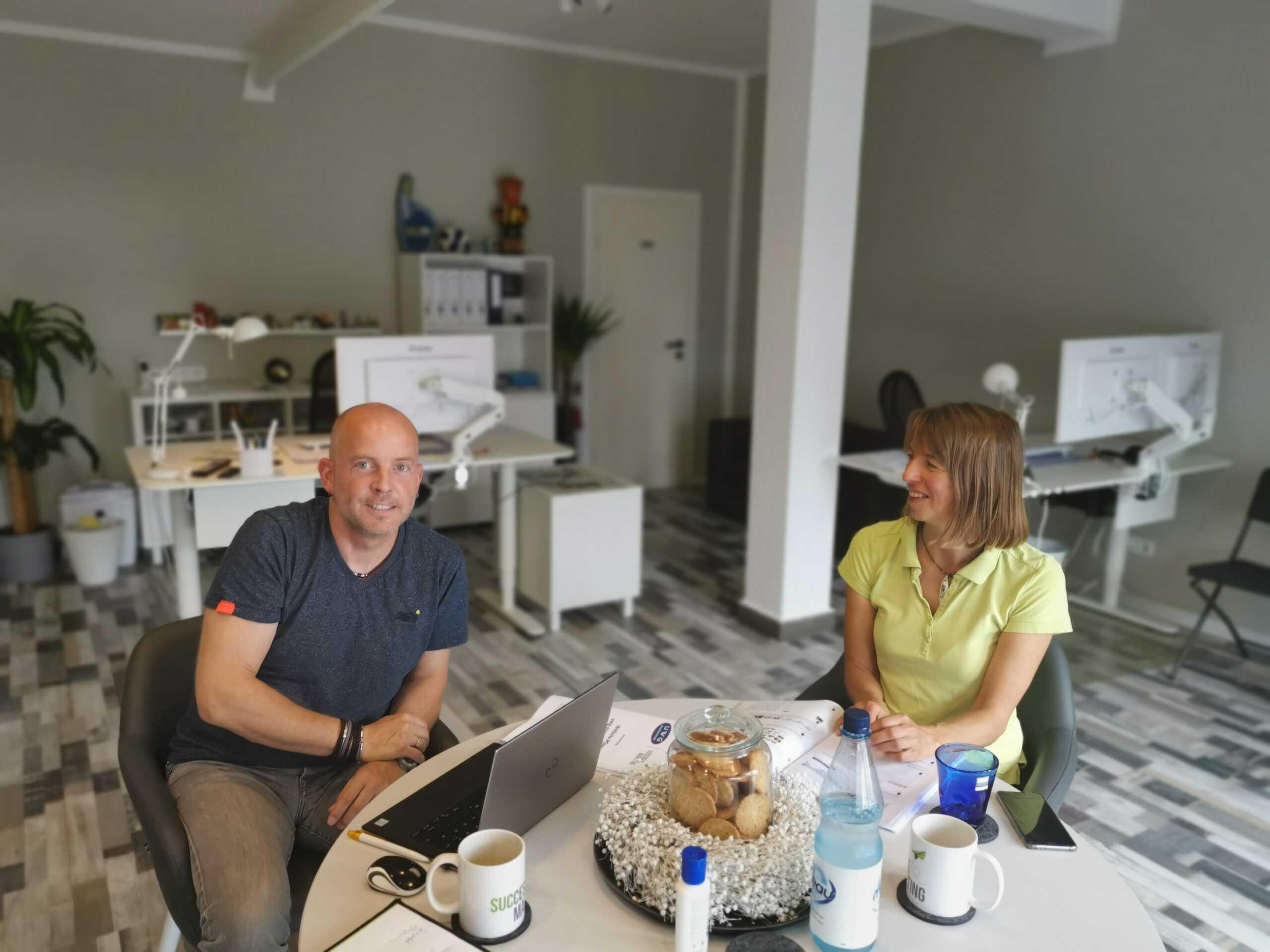 Hella Dietz und Stephan Wilkens zu Gast bei Successive Marketing für eine Website-Schulung.
